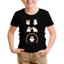 T-shirt Enfant  parodique Porg de Star Wars issu de la fusion de Hamtaro et d