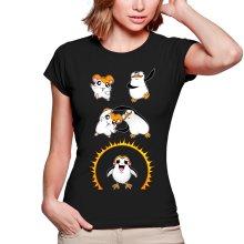 T-shirts Femmes  parodique Porg de Star Wars issu de la fusion de Hamtaro et d