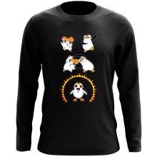 T-Shirt à manches longues  parodique Porg de Star Wars issu de la fusion de Hamtaro et d