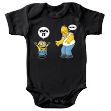 Body bébé  parodique Kévin le Minion et Homer Simpson : Un fiston trop mignon :) (Parodie )