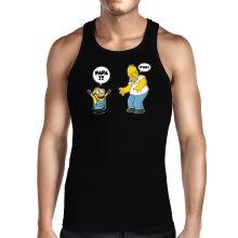 Débardeur  parodique Kévin le Minion et Homer Simpson : Un fiston trop mignon :) (Parodie )