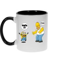 Mug  parodique Kévin le Minion et Homer Simpson : Un fiston trop mignon :) (Parodie )