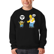 Sweat-shirts  parodique Kévin le Minion et Homer Simpson : Un fiston trop mignon :) (Parodie )