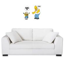Sticker Mural  parodique Kévin le Minion et Homer Simpson : Un fiston trop mignon :) (Parodie )