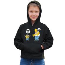 Sweat à capuche Enfant  parodique Kévin le Minion et Homer Simpson : Un fiston trop mignon :) (Parodie )