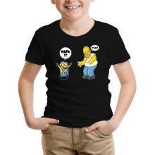 T-shirt Enfant  parodique Kévin le Minion et Homer Simpson : Un fiston trop mignon :) (Parodie )