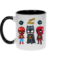Funny Mugs - Batman, Deadpool and Spider-Man Mask Trouble... ( Parody)