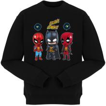 Pulls  parodique Batman, Deadpool et Spider-Man : Un léger problème de conception au niveau du masque... (Parodie )