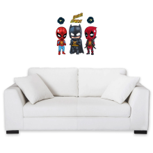 Funny Wall Pediments - Batman, Deadpool and Spider-Man Mask Trouble... ( Parody)
