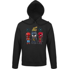 Sweats à capuche (French Days)  parodique Batman, Deadpool et Spider-Man : Un léger problème de conception au niveau du masque... (Parodie )