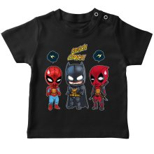 T-shirts (French Days)  parodique Batman, Deadpool et Spider-Man : Un léger problème de conception au niveau du masque... (Parodie )