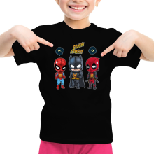 Funny T-Shirts - Batman, Deadpool and Spider-Man Mask Trouble... ( Parody)