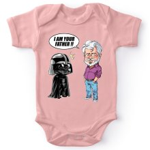 Body bébé (Filles)  parodique Dark Vador et George Lucas - I am your Father : Un père pas si inconnu que ça... :) (Version Originale) (Parodie )