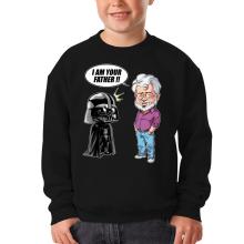 Pull Enfant  parodique Dark Vador et George Lucas - I am your Father : Un père pas si inconnu que ça... :) (Version Originale) (Parodie )