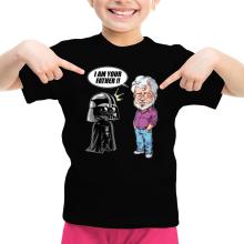 T-shirt Enfant Fille  parodique Dark Vador et George Lucas - I am your Father : Un père pas si inconnu que ça... :) (Version Originale) (Parodie )