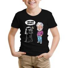 T-shirt Enfant  parodique Dark Vador et George Lucas - I am your Father : Un père pas si inconnu que ça... :) (Version Originale) (Parodie )