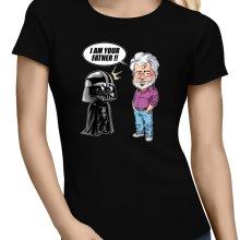 T-shirts Femmes  parodique Dark Vador et George Lucas - I am your Father : Un père pas si inconnu que ça... :) (Version Originale) (Parodie )