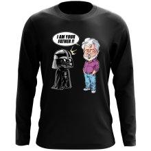 T-Shirt à manches longues  parodique Dark Vador et George Lucas - I am your Father : Un père pas si inconnu que ça... :) (Version Originale) (Parodie )