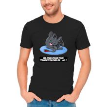 T-shirts  parodique Krokmou le Dragon : Une bonne hygiène de vie commence toujours par...soi ! (Parodie )
