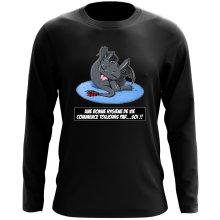T-Shirt à manches longues  parodique Krokmou le Dragon : Une bonne hygiène de vie commence toujours par...soi ! (Parodie )