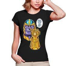T-shirts Femmes  parodique Thanos le Super-Vilain d