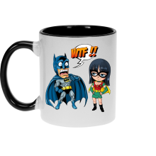 Mugs  parodique Batman et Robin : What the... !? (Dark Version) (Parodie )