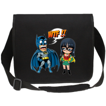 Sacs bandoulière Canvas  parodique Batman et Robin : What the... !? (Dark Version) (Parodie )