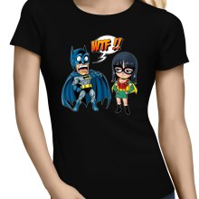 T-shirts Femmes  parodique Batman et Robin : What the... !? (Dark Version) (Parodie )