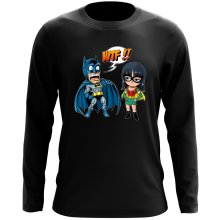 T-Shirts à manches longues  parodique Batman et Robin : What the... !? (Dark Version) (Parodie )