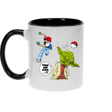 Mug  parodique Yoda et Sacha Ketchum : What the...!? (Parodie )