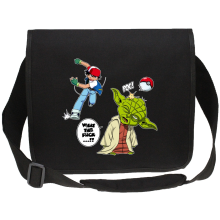 Sac bandoulière Canvas  parodique Yoda et Sacha Ketchum : What the...!? (Parodie )