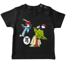 T-shirt bébé  parodique Yoda et Sacha Ketchum : What the...!? (Parodie )