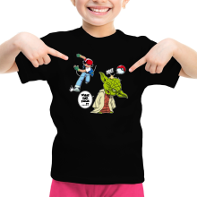 T-shirt Enfant Fille  parodique Yoda et Sacha Ketchum : What the...!? (Parodie )