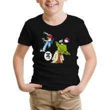 T-shirt Enfant  parodique Yoda et Sacha Ketchum : What the...!? (Parodie )