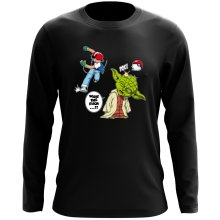 T-Shirt à manches longues  parodique Yoda et Sacha Ketchum : What the...!? (Parodie )