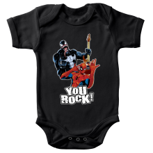 Body bébé  parodique Spider-Man et Venom : You Rock !! (Parodie )