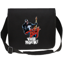 Sac bandoulière Canvas  parodique Spider-Man et Venom : You Rock !! (Parodie )