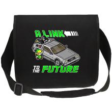 Sacs bandoulière Canvas  parodique Link et la Delorean : A Link to the Future ! (Parodie )