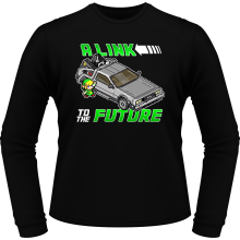 T-Shirts à manches longues  parodique Link et la Delorean : A Link to the Future ! (Parodie )