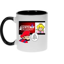Mugs  parodique Mario et la Princesse Peach : Alerte enlèvement... (Parodie )