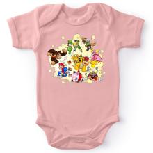 Body bébé (Filles)  parodique Mario, Link, Fox, Bowser, Pikachu et Wario : Baston Générale à la sauce gauloise (Parodie )