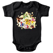 Body bébé  parodique Mario, Link, Fox, Bowser, Pikachu et Wario : Baston Générale à la sauce gauloise (Parodie )