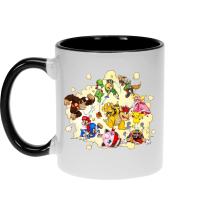 Mug  parodique Mario, Link, Fox, Bowser, Pikachu et Wario : Baston Générale à la sauce gauloise (Parodie )