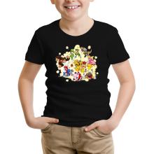 T-shirt Enfant  parodique Mario, Link, Fox, Bowser, Pikachu et Wario : Baston Générale à la sauce gauloise (Parodie )