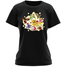 T-shirt Femme  parodique Mario, Link, Fox, Bowser, Pikachu et Wario : Baston Générale à la sauce gauloise (Parodie )