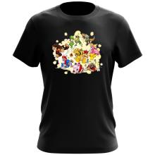T-shirt  parodique Mario, Link, Fox, Bowser, Pikachu et Wario : Baston Générale à la sauce gauloise (Parodie )