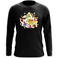T-Shirt à manches longues  parodique Mario, Link, Fox, Bowser, Pikachu et Wario : Baston Générale à la sauce gauloise (Parodie )