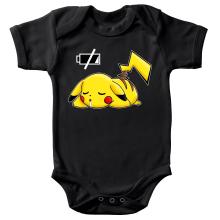 Body bébé  parodique Pikachu : Batterie à plat ! (Parodie )