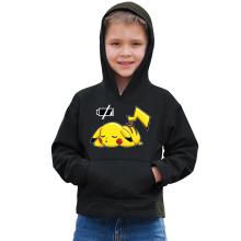 Sweat à capuche Enfant  parodique Pikachu : Batterie à plat ! (Parodie )