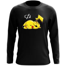 T-Shirt à manches longues  parodique Pikachu : Batterie à plat ! (Parodie )